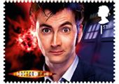 Doctor Who Tenth Doctor First Class stamp (David Tennant) - new series of stamps for commemorate the 50th Anniversary of Doctor Who.