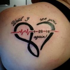 Popularly known as the EKG line tattoo, the pulse symbol is similar to a little monitor with an irregular line that bounces up and down just like when a patient is hooked to a heart… Dad Tattoos, Neue Tattoos, Family Tattoos, Sister Tattoos, Future Tattoos, Tattoos For Guys, Cool Tattoos, Tatoos, Ekg Tattoo