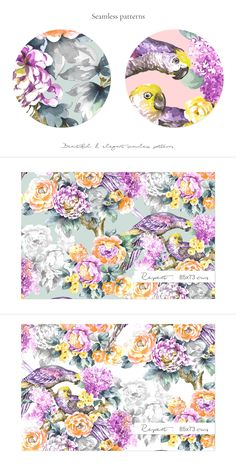 BLOOM, Exquisite watercolor Pattern!