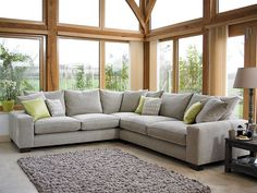 Holloways Grey Corner Sofa