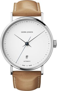 Georg Jensen Watch Koppel #bezel-fixed #bracelet-strap-leather #brand-georg-jensen #case-depth-12-3mm #case-material-steel #case-width-41mm #date-yes #delivery-timescale-call-us #dial-colour-white #gender-mens #luxury #movement-automatic #official-stockist-for-georg-jensen-watches #packaging-georg-jensen-watch-packaging #style-dress #subcat-koppel #supplier-model-no-3575563 #warranty-georg-jensen-official-2-year-guarantee #water-resistant-30m