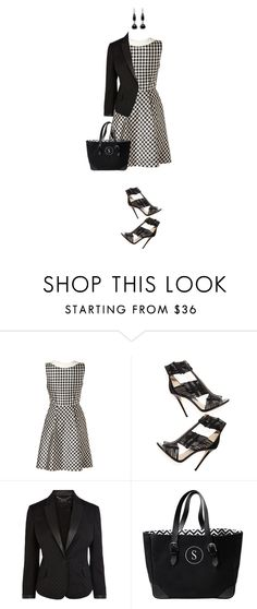 """Black Gingham"" by randomtwirler on Polyvore"