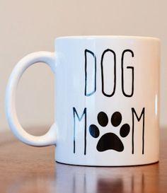 Dog Mom Coffee Mug Dog Lover Coffee Mug Dog Mom by GoldenUpcycling