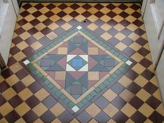 Victorian style floor for porch