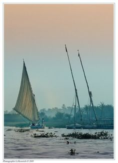 sailing down old river Nile