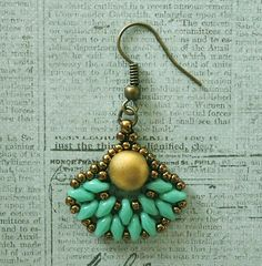Linda's Crafty Inspirations: Playing with my Beads...Retro Fans Earrings with…