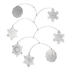 Crate and Barrel: Snowflake Mobile. DIY potential! $25 from C&B