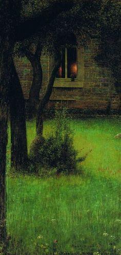A Window  - Louis Welden Hawkins (1849-1910)