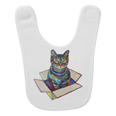 Cat In A Box Baby Bib - fancy gifts cool gift ideas unique special diy customize