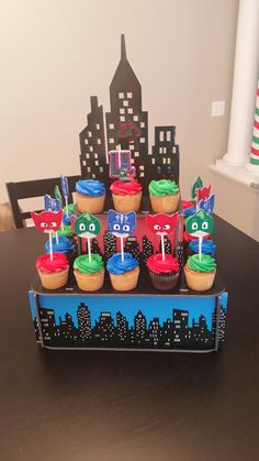 PJ Masks cupcake stand!