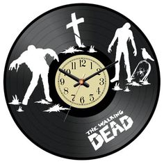 Laser cuting Vinyl Record Clock The Walking Dead / by VinylImage