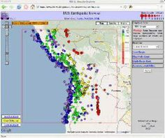 The IRIS Earthquake Browser (IEB) is an interactive map for exploring millions of seismic event epicenters (normally earthquakes) on a map of the world. Selections of up to 5000 events can also be viewed in 3D and freely rotated with the 3D Viewer companion tool.