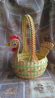 Поделка изделие Пасха Плетение Пасхальный набор Трубочки бумажные фото 14
