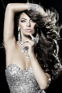 """I had to do a double pin for this one in """"hair"""" and """"bling"""".  This pic just screams fierce on so many levels."""