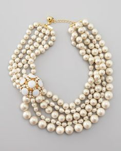 Kate Spade new york multi-strand pearl statement necklace