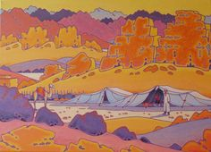 acrylic paintings on canvas . from my travel' s sketcbook , incredible way of life of beduins in the Sinaî, arounded by mountains , rocks and sand .