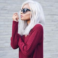 Nyane Lebajoa: Indie Trendy Womens Block Cut Oversize Cat Eye Sunglasses 9160