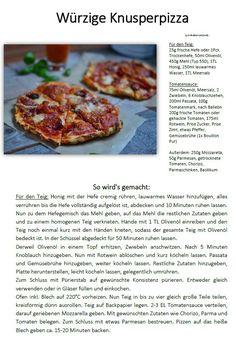 Knusper Pizza Rezept