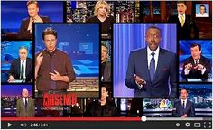 Part 3 of Text & Meaning in the Civil Rights Act of 1964 article series by Aberjhani.  Image of talk show host Arsenio Hall surrounded by fellow media personalities. NBC News. Brian Williams. Mainstream Media. African-Americans. Democracy. African-American men. Guerrilla Decontextualization.