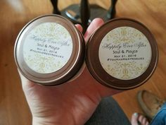 Wedding favors. Candle favors.