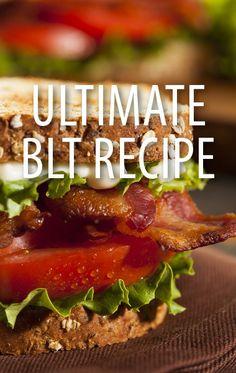 A super fast and delicious sandwich! Blt Recipes, The Chew Recipes, Food Network Recipes, Dinner Recipes, Cooking Recipes, Healthy Recipes, Sandwich Recipes, Lunches And Dinners, Meals