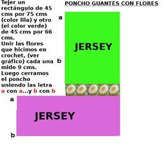 PONCHO CON FLORES 1 Color Lila, Bar Chart, Periodic Table, Projects To Try, Hand Crochet, Summer, Periotic Table, Bar Graphs
