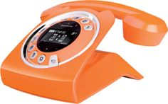 Sagemcom Sixty Digital Cordless Retro Style Telephone with Answering Machine - Orange Console Vintage, Gadget Magazine, Cordless Telephone, Retro Phone, Home Phone, Orange You Glad, Deco Design, Color Of The Year, Cool Gadgets