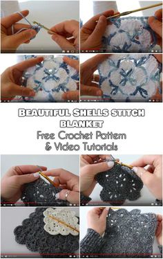 Beautiful Shells Stitch for Blankets, Baby Blankets and Afghans [Free Crochet Pattern and Video Tutorials]  Follow us to get more FREE patterns for crocheting!