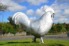 The Dorking Cockerel on the roundabout