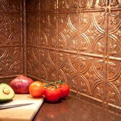 pinterest decor inspiration warm metallics copper pots kitchen colors and kitchen cupboards - Copper Kitchen Backsplash Ideas