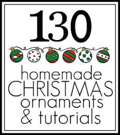 Tons of Christmas ornament ideas. Can't wait to check them all out.