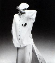 Sonia Rykiel, Vogue Deutsch, February 1985. Photograph by Dominique Issermann.