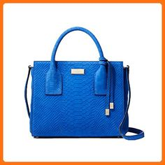 Kate Spade Elsie Street Exotic Leather Small Meriwether Satchel, Orbital Blue - Crossbody bags (*Amazon Partner-Link)