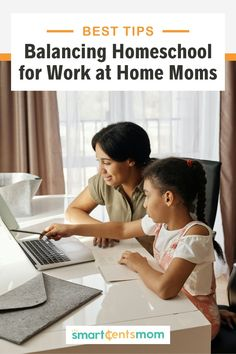 Homeschooling and working at home? It might seem impossible to do both but it's a realistic option for many moms. Check out these tips to balancing life and kids while working from home. | Smart Cents Mom
