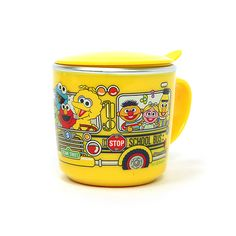 School Bus Stainless Steel Cup with a Lid
