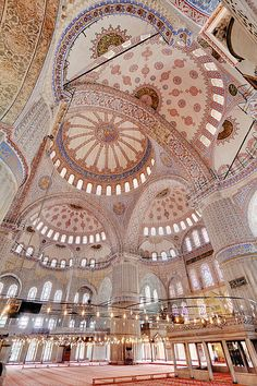 Blue Mosque Interior, Istanbul, Turkey;  photo by  Benh Lieu Song;  Wikimedia Commons.jpg