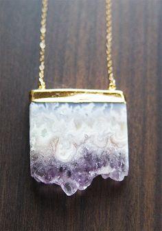 Vanilla Amethyst Stalactite Necklace