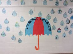 cute board for idioms... all of the raindrops have an idiom w/ a picture on it