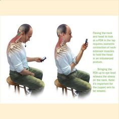 Looking down at our phones is something that we all do, some cases for hours a day. Forward Head posture and loss of proper cervical curves are big problems in our society. We are even seeing small childrens posture being affected adversely, partly because they are all playing on phones, ipods, gameboys, etc....