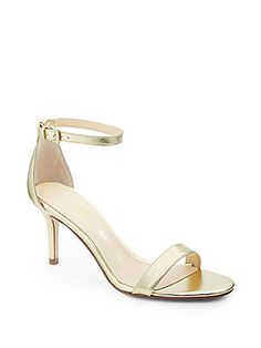 Vilma Metallic Leather Ankle Strap Sandals