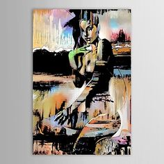 Hand-Painted PeopleModern / Traditional One Panel Canvas Oil Painting For Home Decoration 1718129 2017 – $60.89