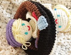 Note Songs: Crocheted Topsy Turvey Doll