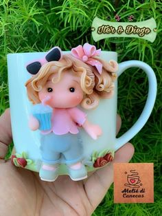 Clay Crafts, Crafts To Do, Clay Mugs, Clay Baby, Fimo Clay, Pasta Flexible, Create Your Own, Biscuits, Projects To Try