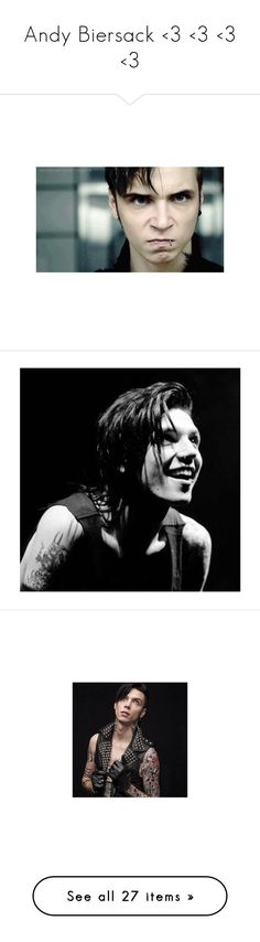 """""""Andy Biersack <3 <3 <3 <3"""" by nerdbucket ❤ liked on Polyvore featuring andy black, bvb, andy biersack, black veil brides, andy, backgrounds, pictures, band members, bands and people"""