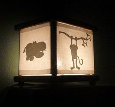 Night light for jungle / safari / African animals / zoo themed nursery or toddler room.
