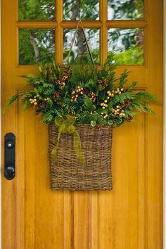 Spring Flowers Hanging Basket Door Wreath | Floral Arrangements | Pinterest  | Door Wreaths And Spring Flowers