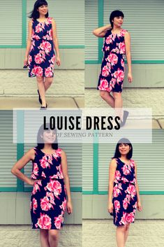 NEW PATTERN FOR SALE: The Louise Dress PDF sewing pattern and step by step sewing tutorial
