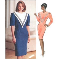 Butterick Sewing Pattern 5308 Misses' Dress by Leslie Fay  Size:  14-16-18  Uncut
