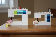 lego sewing machine- The Q and the U - Quilting Blog: Lego Sewing Machine Redux: Elna Pro Quilting Queen