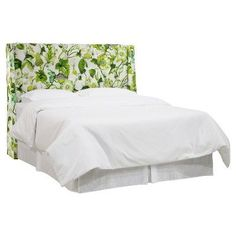 Archer Tufted Wingback Headboard - Grandiflora Jardin (California King) - Skyline Furniture